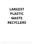 Largest Plastic Waste Recyclers 2018 logo